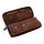 Genuine leather tobacco pouch havanna brown
