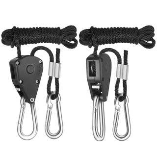 Adjustable rope hanger 1/8 metal carabiner 46kg 2m