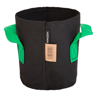 3L Fabric pot black/green - Ø15x17cm