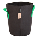 10L Fabric pot black/green - Ø22x27cm