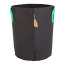 25L Fabric pot black/green - Ø30x36cm