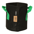 5L Fabric pot black/green - Ø18x20 cm