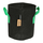 7.5L Fabric pot black/green - Ø20x24cm