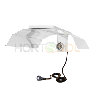 Single lamp reflector mirrored for E40 CFL